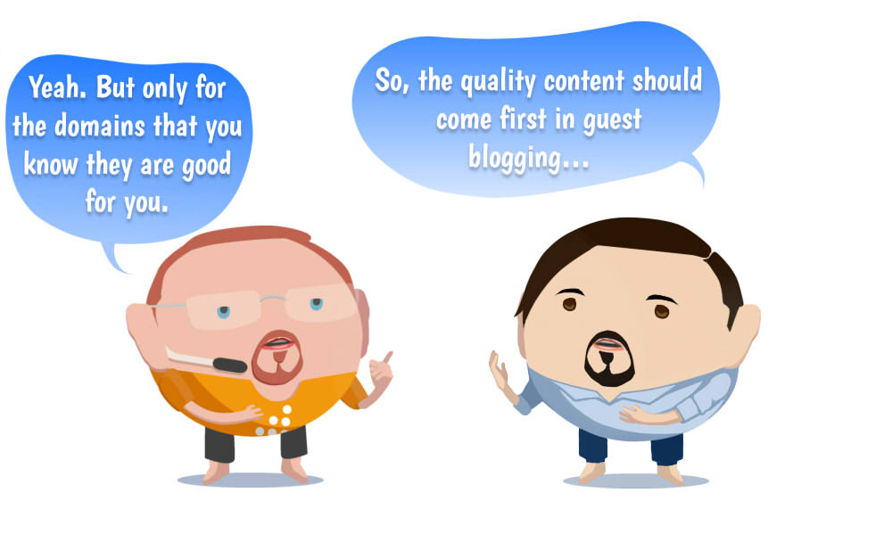 Image of The quality content should come first in guest blogging…