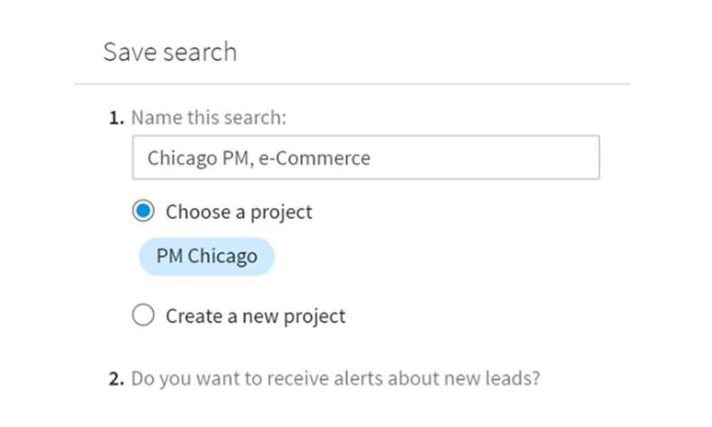 Image of LinkedIn Saved Search