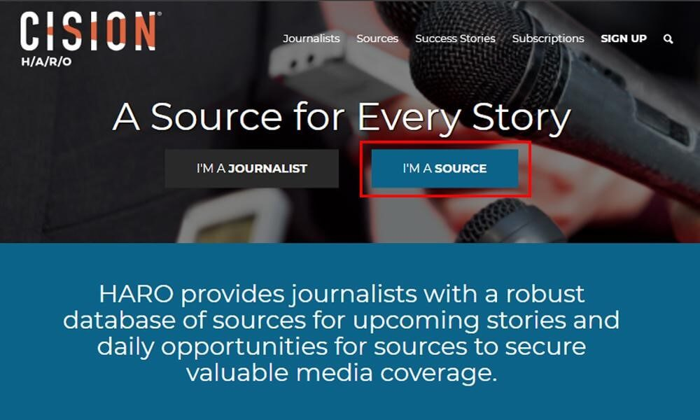 Image of Register on Help A Reporter Out as a Source